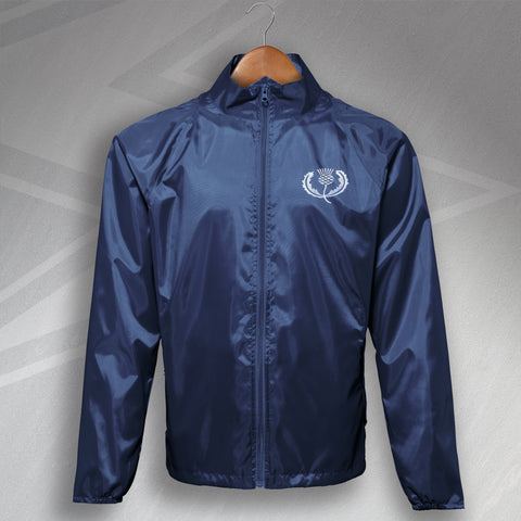 Retro Scotland Rugby Embroidered Lightweight Jacket