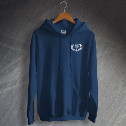 Retro Scotland Rugby Hoodie with Embroidered Badge