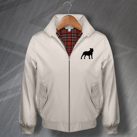 Staffordshire Bull Terrier Embroidered Classic Harrington Jacket