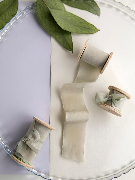 Silk ribbon | SAGE GREEN