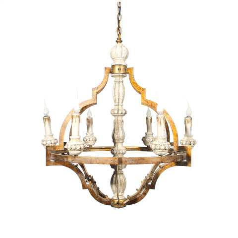 Gold Patina Candlestick Chandelier
