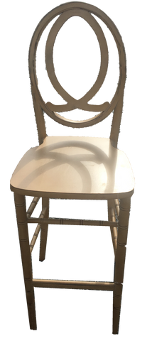 infinity barstool, gold barstool, barstool for rent, charleston event rentals, ooh events
