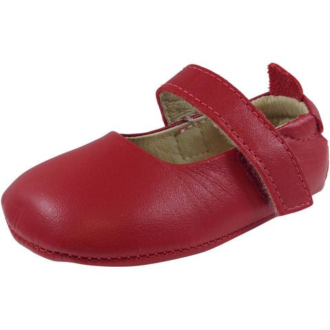 Old Soles Girl's 022 Red Leather Gabrielle Mary Jane - Just Shoes for Kids  - 1