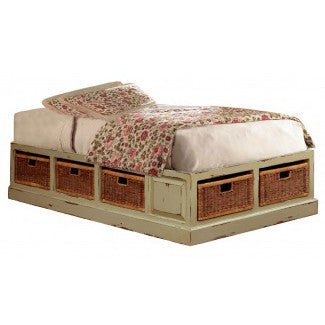 Classic French Style Twin Platform Bed