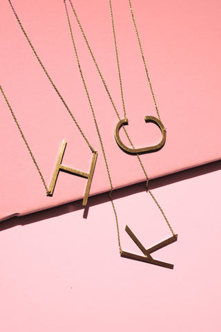 Ellison + Young: Monogram Collection Initial Necklace