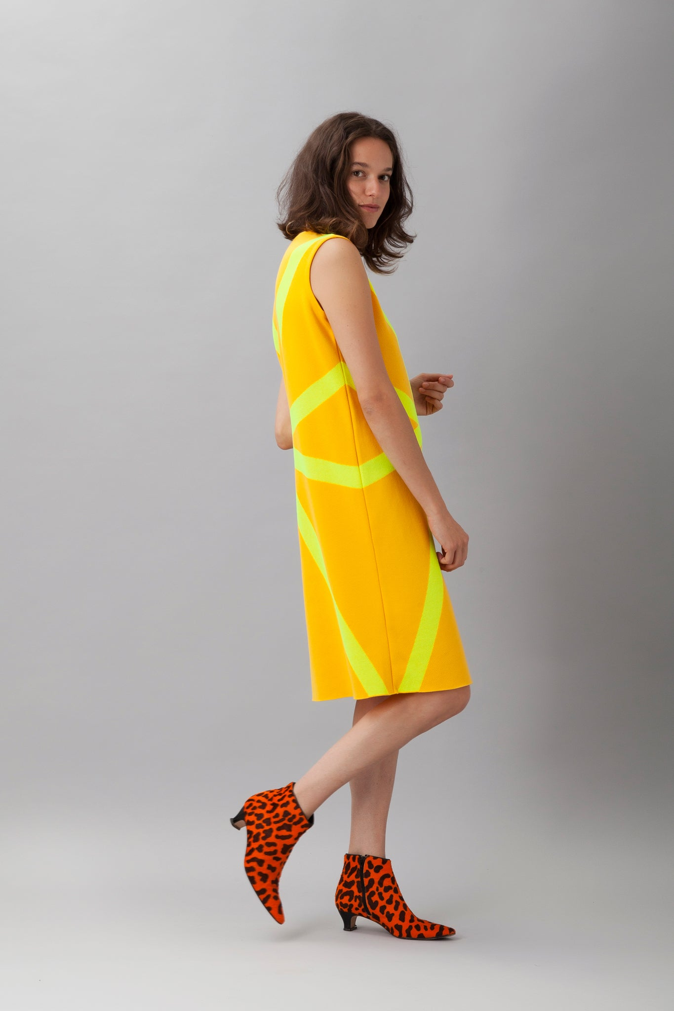 Sartoria Vico + Wait and See<br>Short dress glow - Yellow