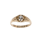 For You - Victorian 18K Diamond Solitaire Ring                                    VICR077