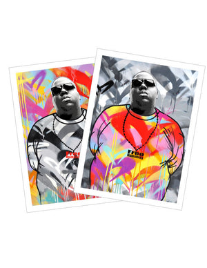 """Notorious B.I.G."" BY FREE HUMANITY - 2 x Vinyl Stickers"