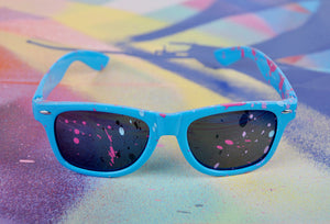"""Hepburn's Humanity"" by Free Humanity - Hand-Painted Sunglasses - Unique 1/1"