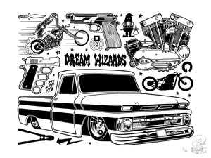 """Dream Wizards"" by Mike Giant - Limited Edition, Archival Print - 18 x 24"