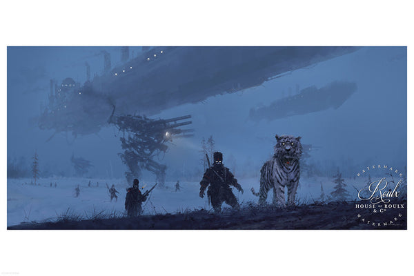 """1920 - You Come to the Wrong Neighborhood"" by Jakub 'Mr. Werewolf' Rozalski - Fine Art Print"