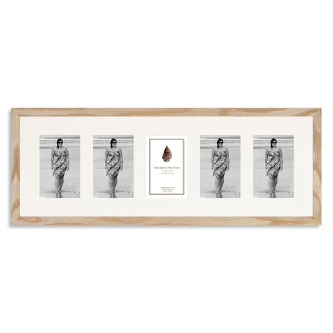Image of a Solid Oak Photo Frame which holds five 6x4inch photos