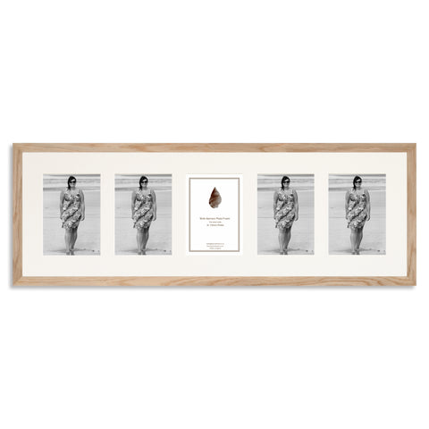Image of a Solid Oak Photo Frame to hold five 7x5inch photos