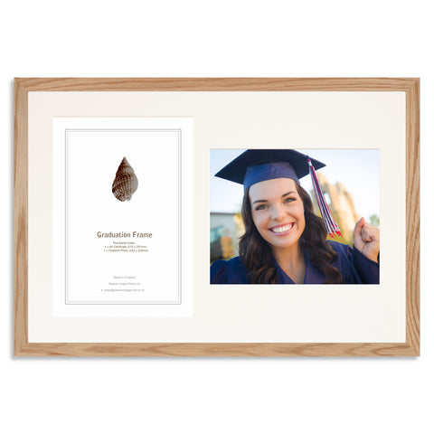 Solid Oak Graduation Frame