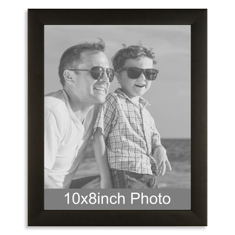 10 x 8inch Black Wooden Photo Frame for a 10x8/8x10in image