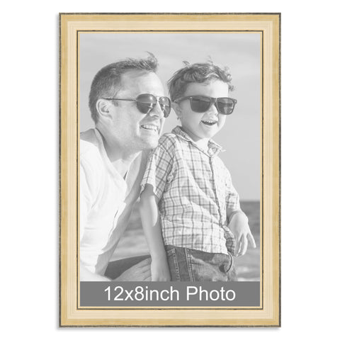 12 x 8inch Gold Wooden Photo Frame for a 12x8/8x12in photo