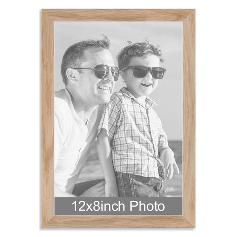 12 x 8inch Solid Oak Photo Frame for a 12x8/8x12in photo