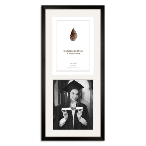Black Wooden Graduation Frame for A4 Certificate and 10x8/8x10in Photo