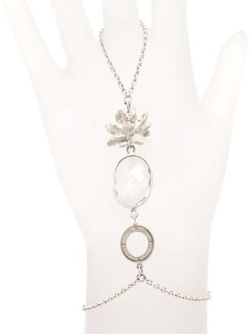 Lotus and Crystal Sterling Silver