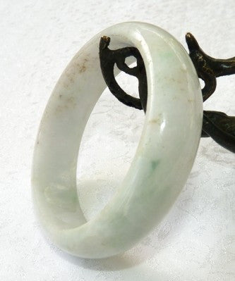 """Breath of Green"" Burmese Jadeite Jade Bangle Bracelet 57mm + Certificate (675)"
