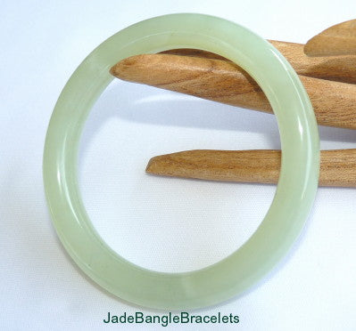 Classic Traditional Round Chinese Jade Bangle Bracelet 65mm (JBB-3353)