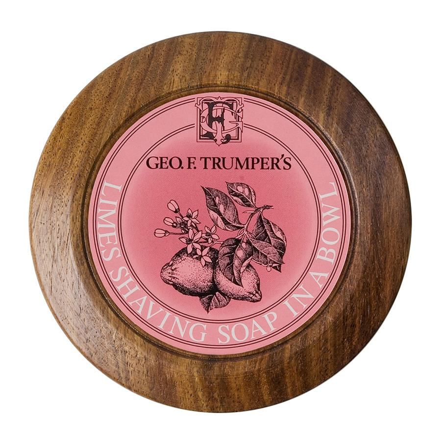 Geo. F. Trumper Limes Shaving Soap with Wooden Bowl Shaving Soap Geo F. Trumper