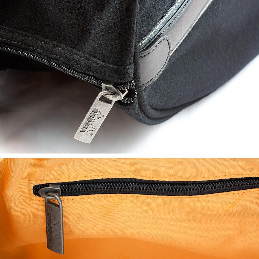 Rhodia ePure Large Travel Bag, Black Travel Bag Discontinued