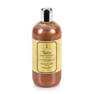 Taylor of Old Bond Street Sandalwood Moisturizing Bath and Shower Gel, 500 ml Men's Body Wash Taylor of Old Bond Street