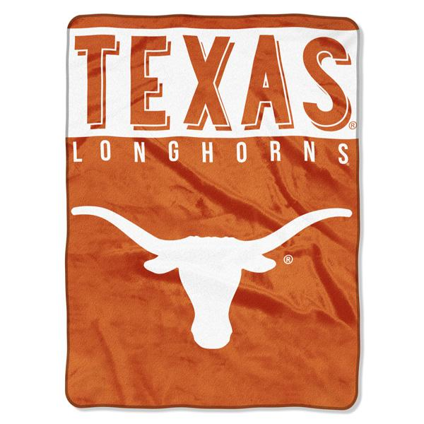 Texas Longhorns NCAA Basic 60 x 80 Raschel Throw