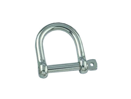 AISI 316 Marine Stainless Steel 6mm Wide Jaw Dee Chain Shackle