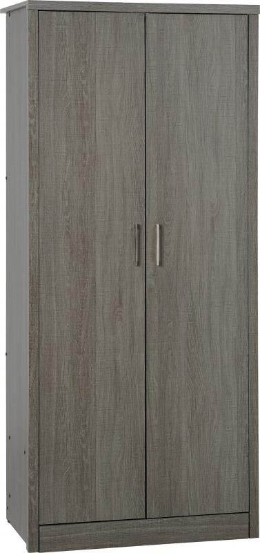 Lisbon 2 Door Wardrobe in Black