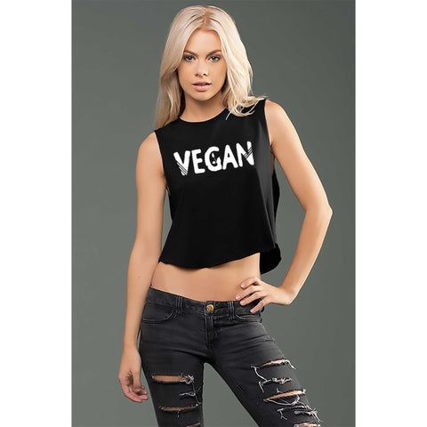 FTLA Apparel ~ For The Love of Animals Apparel:  Muscle Tank - eco-HYBRID™ Micro Jersey Cropped Muscle Tank