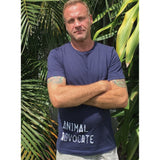 FTLA Apparel ~ For The Love of Animals Apparel:  Unisex T-Shirt - FTLA Apparel Men's/Unisex Navy Blue Jersey Short Sleeve Tee -  Animal Advocate