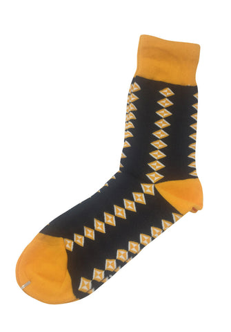 Allotropes Series Yellow and Dark Blue Socks