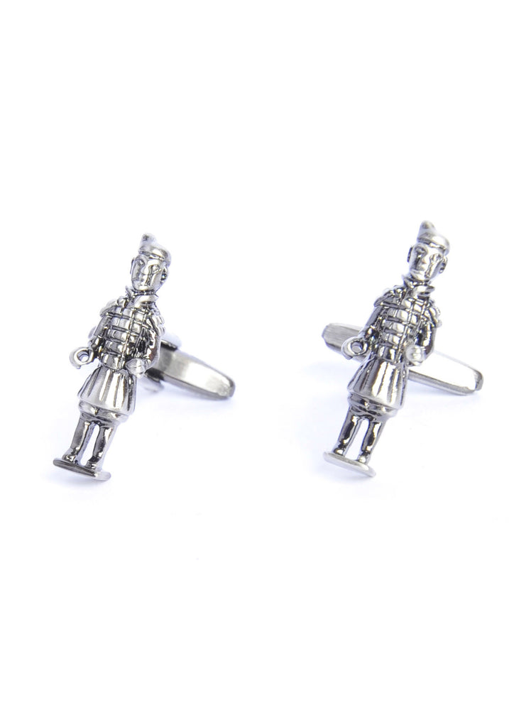Terracotta Army With Hands Free Antique Finish Cufflinks