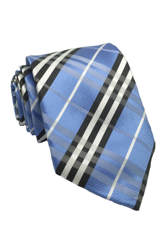 Checkerboard Series Blue Checked Design Silk Tie