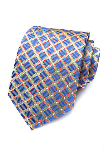 Checky Series Blue & Gold Neck Tie