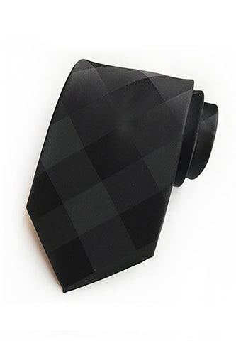Checky Series Black Neck Tie
