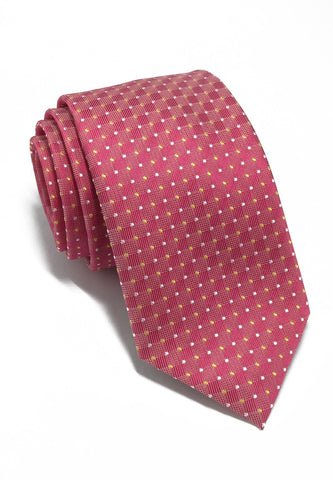 Atom Series Bright Pink Polyester Tie