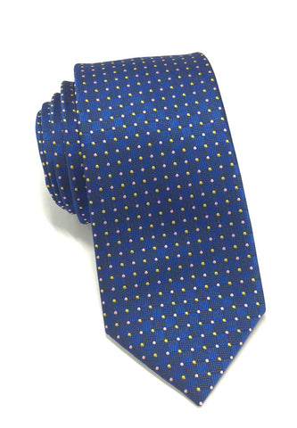 Atom Series Blue Polyester Tie