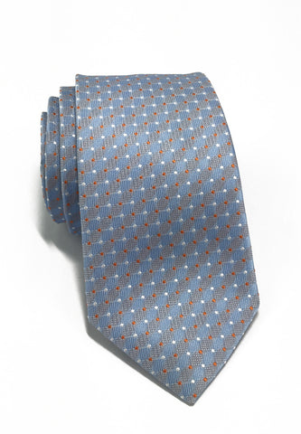 Atom Series Baby Blue Polyester Tie