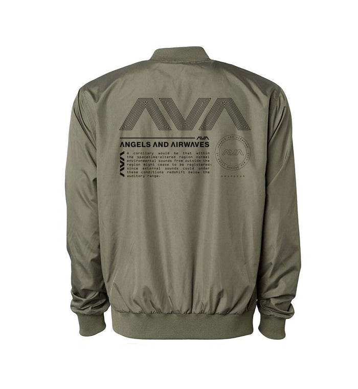 Angels and Airwaves Data Package Unisex Bomber Windbreaker Army Back - To The Stars...