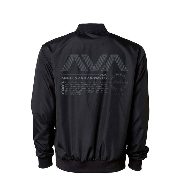 Angels and Airwaves Data Package Unisex Bomber Windbreaker Black Back - To The Stars...