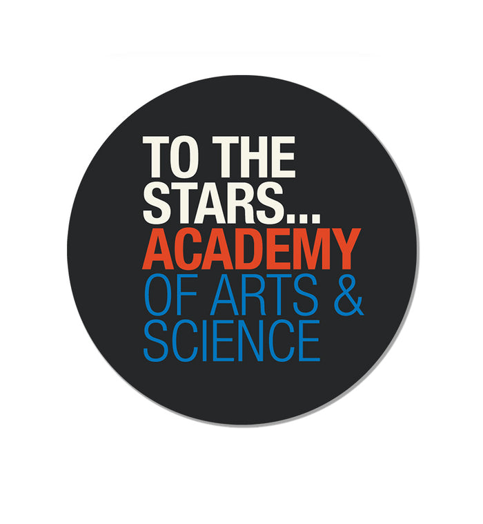To The Stars... Academy Of Arts & Science Text Logo Sticker Black - To The Stars...
