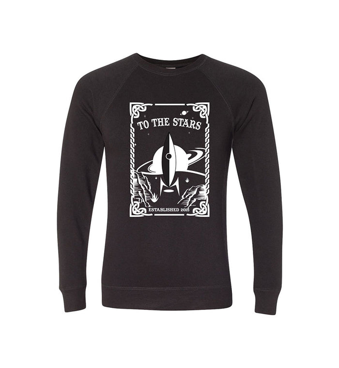 To The Stars... Tarot Unisex Crew Sweatshirt Black/White - To The Stars...