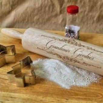 Engraved Rolling Pin - ScissorMill