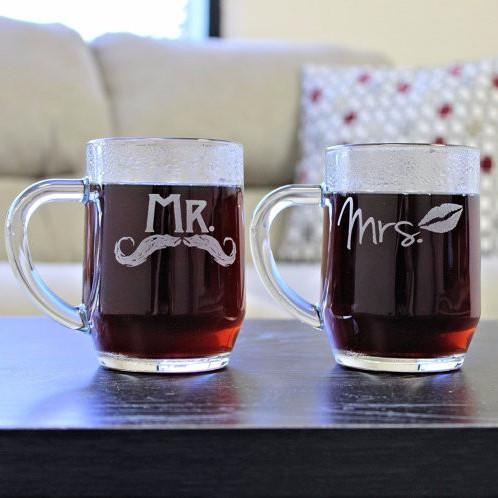 Mr and Mrs Coffee Mugs - ScissorMill