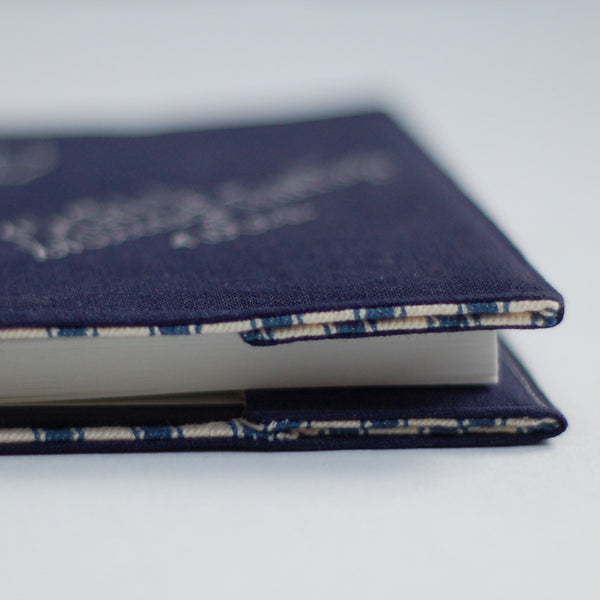 Personalised Navy Teacher's Notebook - Handmade Poshyarns