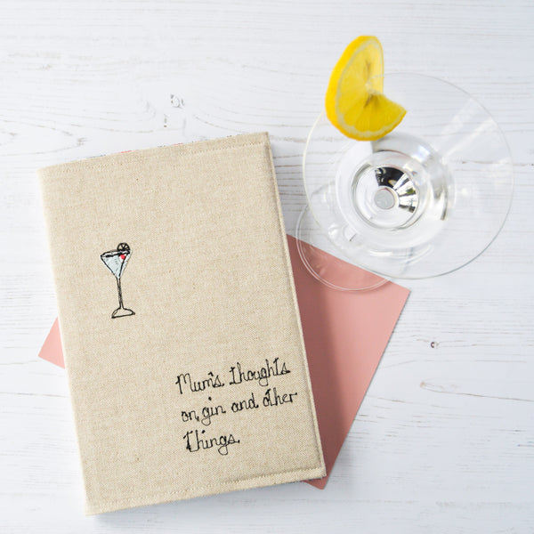 Personalised 'Thoughts On Gin And Other Things' Notebook - Handmade Poshyarns