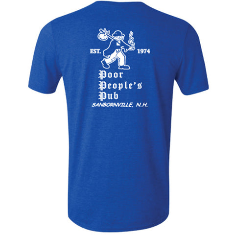 "People's Pub 1974 ""First Design"" T-Shirt in Heather Royal Blue"